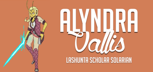 Alyndra Vallis, Lashunta Scholar Solarian