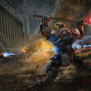 Vesk in Combat, © Paizo, Inc.
