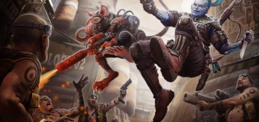 Absalom Battle with Android and Ysoki, © Paizo, Inc.